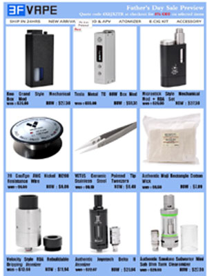 newsletter sample of 3FVAPE
