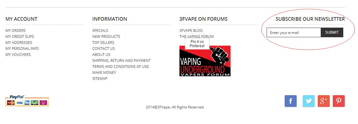 subscribe 3fvape