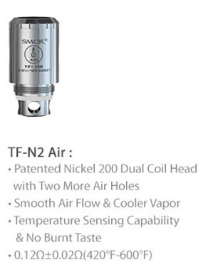 3fvape smoktech tfv4 tf N2 Air ni200  core