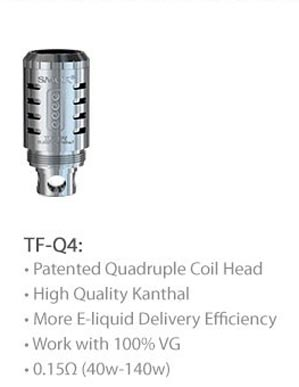 3fvape smoktech tfv4 tf q4 core