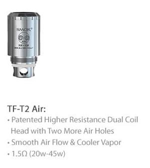 3fvape smoktech tfv4 tf t2 air core
