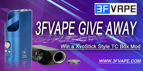 3FVape XvoStick Style TC Mod Give Away [Ended]
