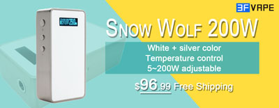 White Snow Wolf 200W Temp Control Mod Available on 3FVape