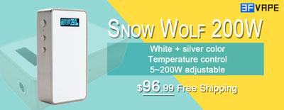 White Snow Wolf 200W Temp Control Mod Available on 3FVape