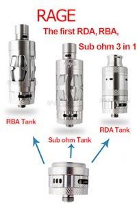 Rage 3 in 1 RDA RBA RTA Sub Ohm Tank - 3FVAPE