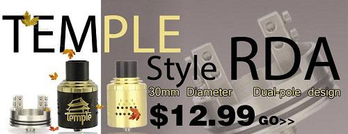 Temple Style RDA 30mm - 3FVAPE