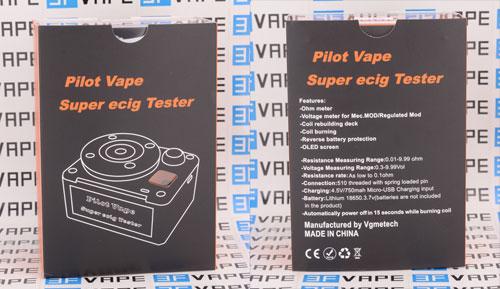 Piolot Vape Super ecig Tester 521 Tab - 3FVAPE