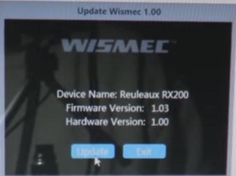 reuleaux wismec rx200 update firmware