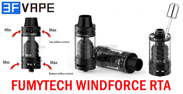 Authentic Fumytech Windforce RTA - 3FVAPE