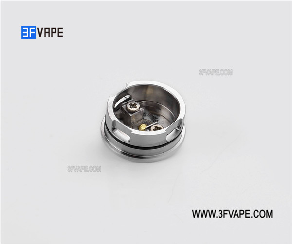 SXK IAI RDA V2 Style RDA Rebuildable Dripping Atomizer w/ Bottom Feeder Pin - Silver, 316 Stainless Steel, 22mm Diameter IAI RDA V2 Coupon Code MAP13094