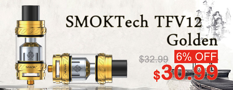 SMOKTech TFV12 Gold Flash Sale - 3FVAPE