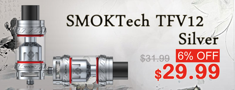 SMOKTech TFV12 Silver Flash Sale - 3FVAPE