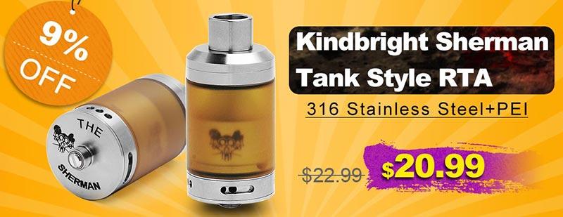 Kindbright Sherman Tank Style RTA Flash Sale