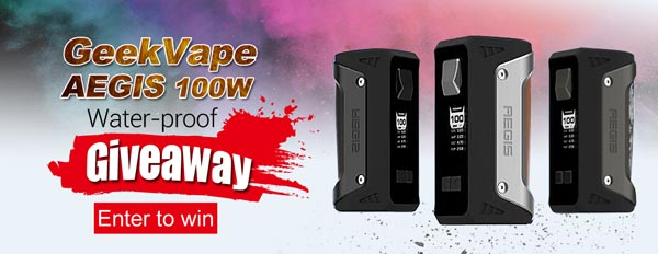 Authentic GeekVape AEGIS 100W Water-proof TC VW Variable Wattage Box Mod Giveaway
