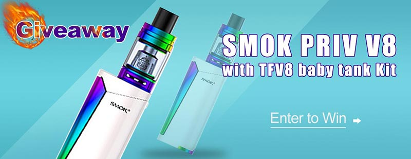 Authentic SMOKTech SMOK Priv-V8 60W Box Mod TFV8 Baby Tank Kit