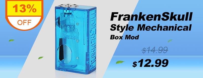 FrankenSkull Style Mechanical Box Mod