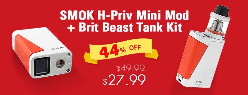 SMOK H-Priv Mini 50W 1650mAh TC VW Box Mod + Brit Beast Tank Kit