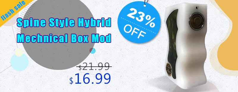 Spine Style Hybrid Mechnical Box Mod - White