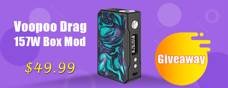 Authentic Voopoo Drag 157W TCResin Box Mod Giveaway
