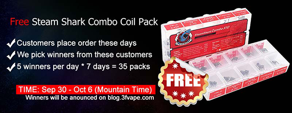 Free Steam Shark Combo X10 Mini 10 in 1 Coil Pack