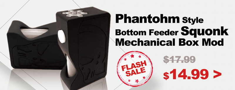 Phantohm Style Bottom Feeder Squonk Mechanical Box Mod