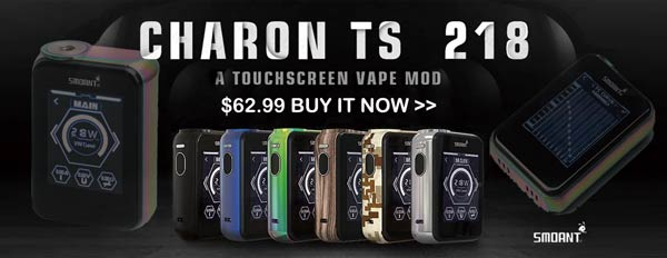 Authentic Smoant Charon TS 218 Touch Screen Box Mod - 3FVAPE