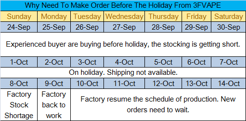 Why buy from 3FVAPE before holiday