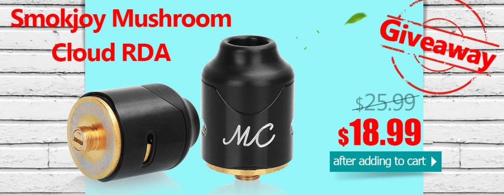 Authentic Smokjoy Mushroom Cloud RDA