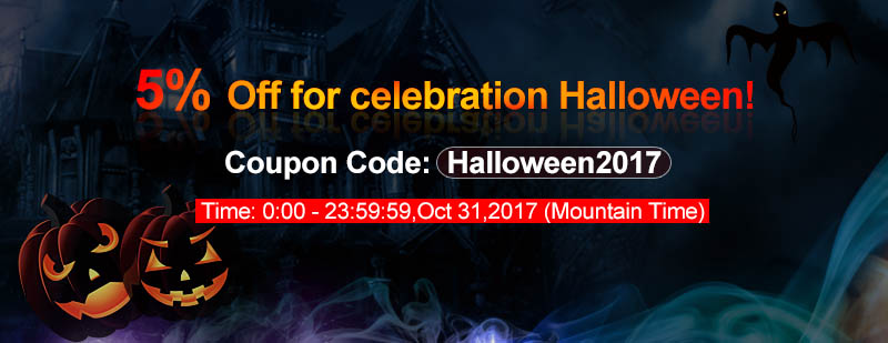 3FVAPE.com 2017 Halloween Big Promotions: 5%off sitewide