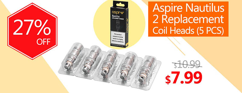Aspire Nautilus 2 Replacement Coil Heads (5 PCS)