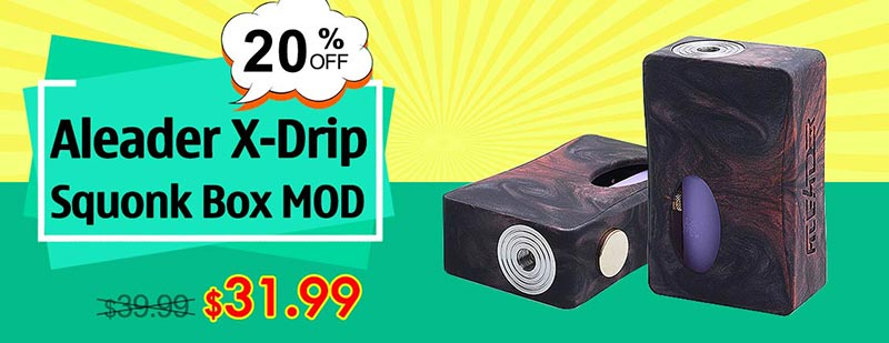Aleader X-Drip Squonk Box MOD