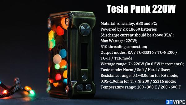 Authentic Tesla Punk 220W Box Mod