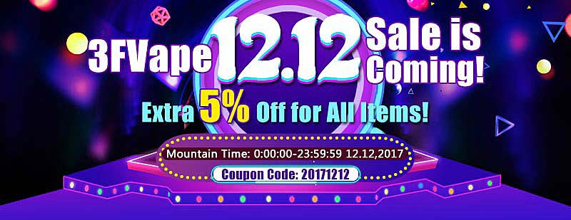 3FVape-12.12-December-Sale