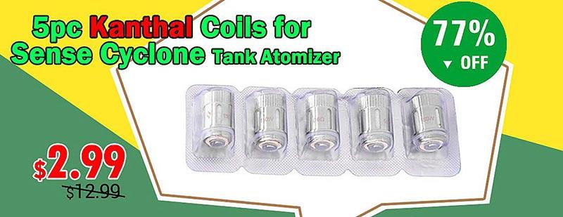 5pc Kanthal Coils for Sense Cyclone Tank Atomizer
