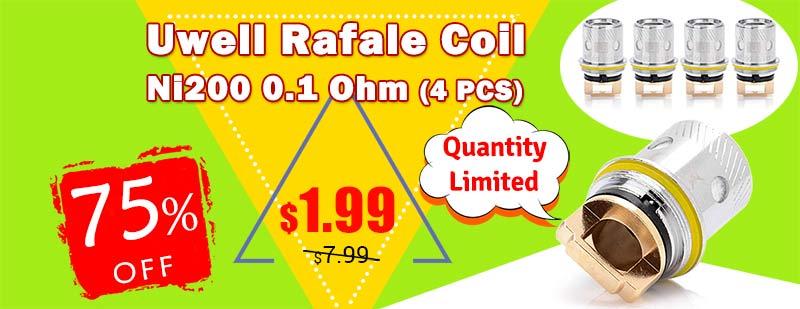 Uwell Rafale Coil Ni200 0.1 Ohm (4 PCS)