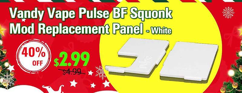 Vandy Vape Pulse BF Squonk Mod Replacement Panel - White
