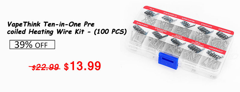 VapeThink Ten-in-One Pre-coiled Heating Wire Kit - (100 PCS)