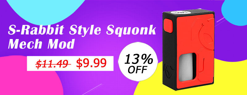 S-Rabbit Style Squonk Mech Mod