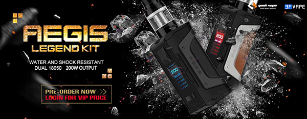 GeekVape Aegis Legend 200W Dual 18650 Mod Kit with Aero Mesh Version Tank