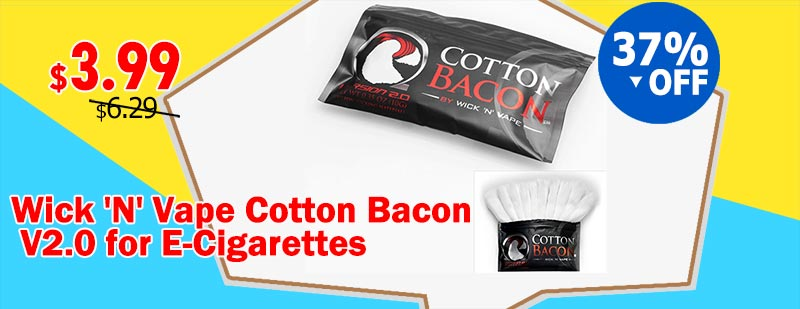 Wick 'N' Vape Cotton Bacon V2.0 for E-Cigarettes