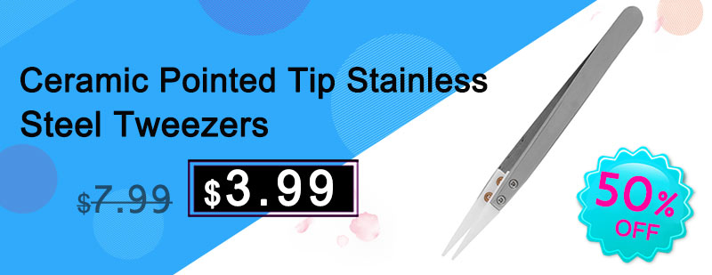 Ceramic Pointed Tip Stainless Steel Tweezers