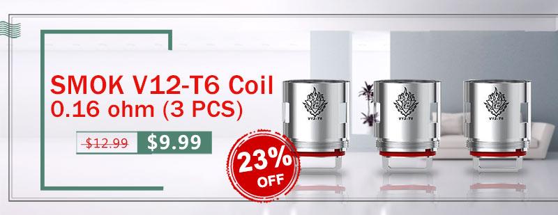 SMOK V12-T6 Coil 0.16 ohm (3 PCS)