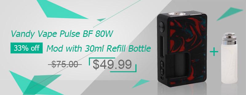 Vandy Vape Pulse BF 80W Box Mod - Lava Red