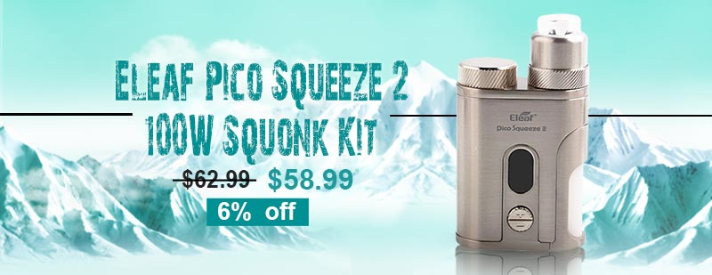 Eleaf Pico Squeeze 2 100W Squonk Kit - Silver