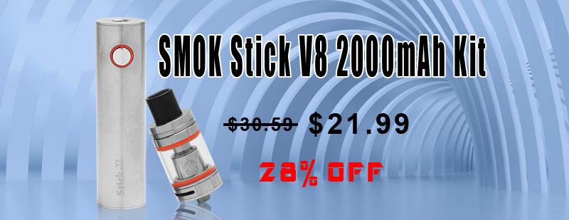 SMOK Stick V8 2000mAh Kit - Silver