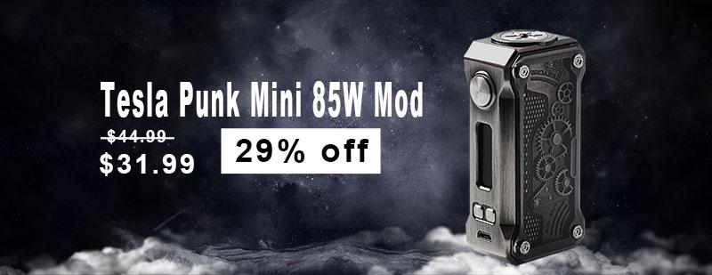 Tesla Punk Mini 85W TC Mod - Gun Metal