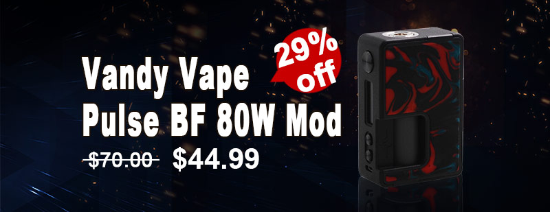 Vandy Vape Pulse BF 80W Squonk Box Mod - Lava Red