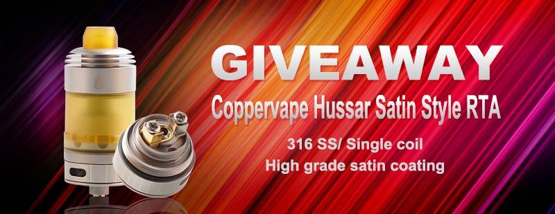 Coppervape Hussar Satin Style RTA