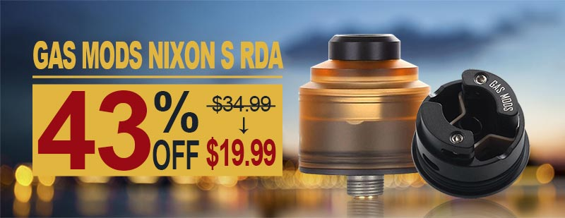 GAS Mods Nixon S RDA - Amber + Black