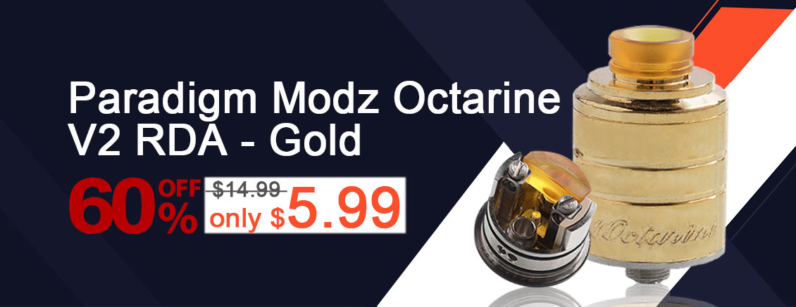 Paradigm Modz Octarine V2 RDA Gold Flash Sale - 3FVAPE